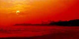Sunrise by the south china sea. Bo ao,hainan,china,asia,castl afar Royalty Free Stock Images
