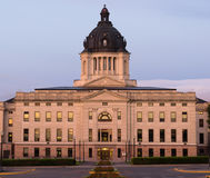 Sunrise South Dakota State Capital Building Hughes County Pierre. The front facade at Pierre Sounth Dakota State Capital Royalty Free Stock Photo