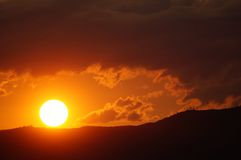 Sunrise. In the South of France (Light of Provence Royalty Free Stock Photography
