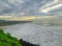 Sunrise at South Garut. Rancabuaya beach south garut Royalty Free Stock Photo