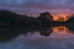 Sunrise at Southampton Common Royalty Free Stock Photography
