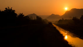 Sunrise. The Sunrise in Southern Thailand Stock Photography