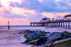 Sunrise at Southwold Pier Royalty Free Stock Images