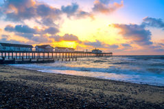 Sunrise at Southwold Pier Stock Images