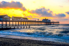 Sunrise at Southwold Pier Stock Photography