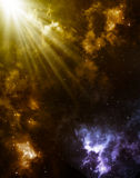 Sunrise in space Royalty Free Stock Photography