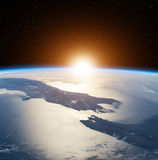 Sunrise In Space Royalty Free Stock Image