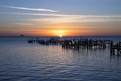 Sunrise At Spaceview Park in Titusville stock image