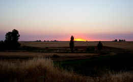 Sunrise, Spanish countryside Royalty Free Stock Photography