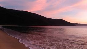 Sunrise with special colors in Paraty, Brazil royalty free stock photos