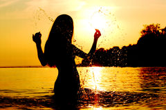 Sunrise splash Royalty Free Stock Photography