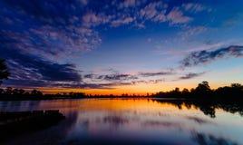 Sunrise of Srah Srang Lake Royalty Free Stock Image