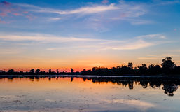 Sunrise of Srah Srang Lake Stock Image
