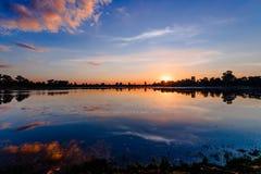 Sunrise of Srah Srang Lake Stock Photos