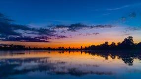 Sunrise of Srah Srang Lake Stock Photo
