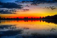 Sunrise of Srah Srang Lake Royalty Free Stock Photos
