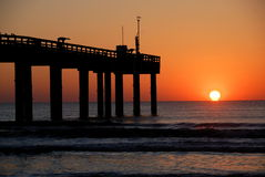 Sunrise at St. Augustine pier Stock Image