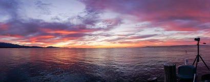 Sunrise from stearns wharf Santa Barbara Royalty Free Stock Image