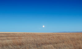 Sunrise in the steppes Stock Photography