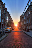 Sunrise street Royalty Free Stock Photography