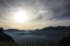After sunrise. Stunning views of the mountains after sunrise Stock Photo