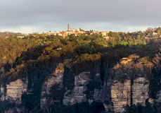 Sunrise from Sublime Point in Blue Mountains Australia Royalty Free Stock Photos