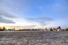 Sunrise in a suburb of Munich Royalty Free Stock Image