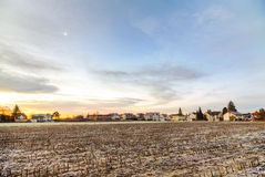 Sunrise in a suburb of Munich Royalty Free Stock Images