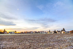 Sunrise in a suburb of Munich with Chinool winds Royalty Free Stock Image