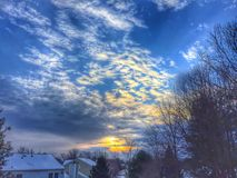 Sunrise in the Suburbs Royalty Free Stock Image