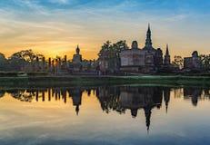 Sunrise at Sukothai - Thailand Royalty Free Stock Image