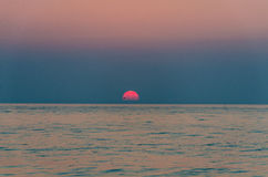 Sunrise. Summer sunrise on Golden Sands beach Stock Photography