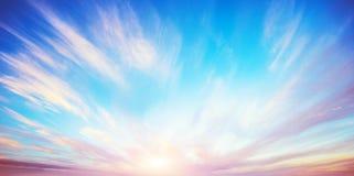 Sunrise summer sky panorama Royalty Free Stock Image