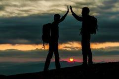 Sunrise summit success Stock Images
