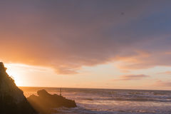 Sunrise Sumner beach Royalty Free Stock Photo