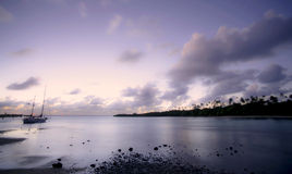 Sunrise. Sun rising over the Murri beach Stock Photography