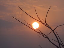 Sunrise. Sun started to spread its light Royalty Free Stock Image