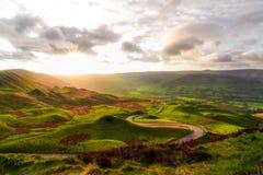 Sunrise. On mamtor UK England Royalty Free Stock Image