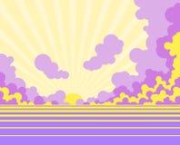 Sunrise or sunset Stock Image