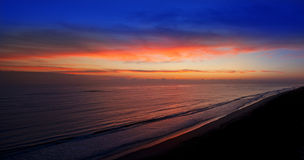 Sunrise Sunset Beach Panorama royalty free stock image