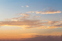 Sunrise -  Sunset and cloudy sky. - Background. Stock Photography