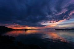 Sunrise or sunset over tropical sea in phuket thailand.  Stock Image
