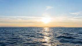 Sunrise. sunset  at sea. wallpaper Royalty Free Stock Photo