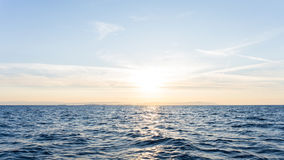 Sunrise. sunset  at sea. wallpaper relax image Stock Photography