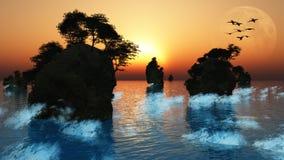 Sunrise or Sunset Royalty Free Stock Photography
