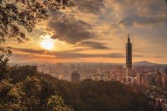 The sunrise sunset in Taipei Royalty Free Stock Image
