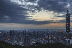 The sunrise sunset in Taipei Royalty Free Stock Photography