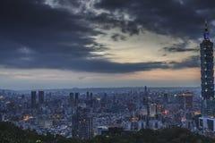 The sunrise sunset in Taipei Stock Image