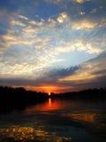 Sunrise, sunset,Thesun,The stream Royalty Free Stock Photo