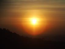 Sunrise sunset twilight silhouette scene Stock Photography